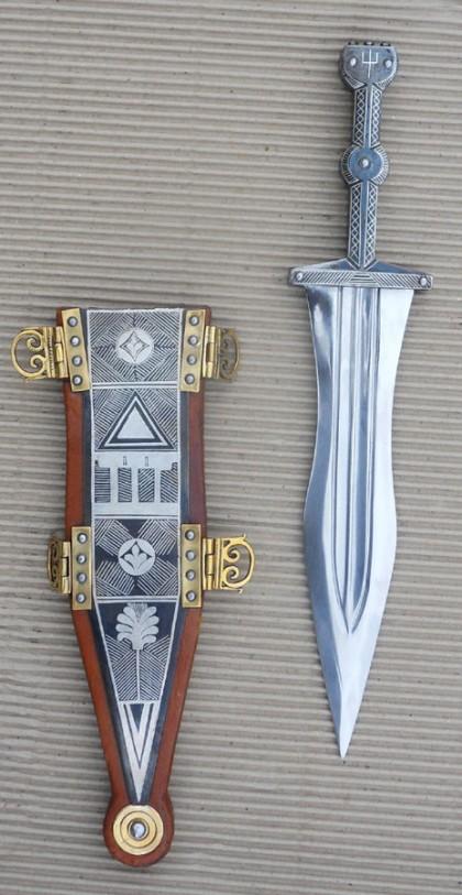 Silver inlayed Pugio Dagger
