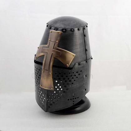 Medieval Helmet with Cross