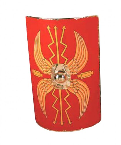 Shield Roman Wooden Linen Covered