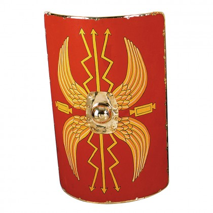 "Shield Roman Wooden( Large Leather Covered)(42"" X 33"")"