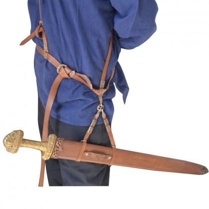 Leather Sword Belt Brown
