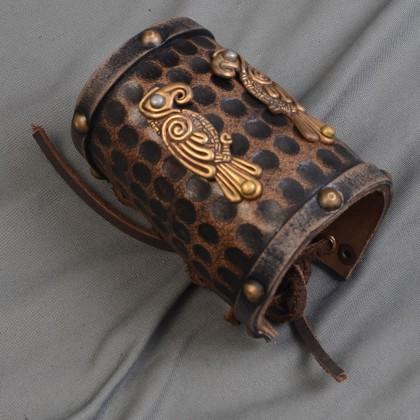 Leather Celtic Cuff -Bird, Single