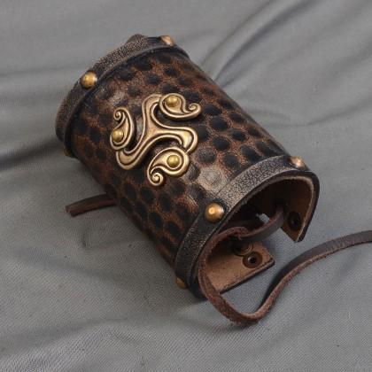 Leather Celtic Cuff Flower - Single