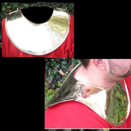 Gladiator Neck Guard Brass