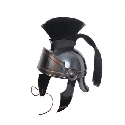Black helmet with Plume