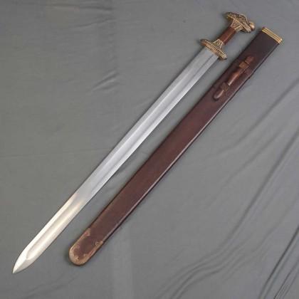 Vendelsvard Grave 32 Sword Brass (Tin strip)