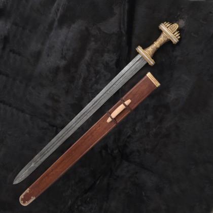 Damascus 8th C. Middle Anglo Saxon, Fetterlane sword, British Museum