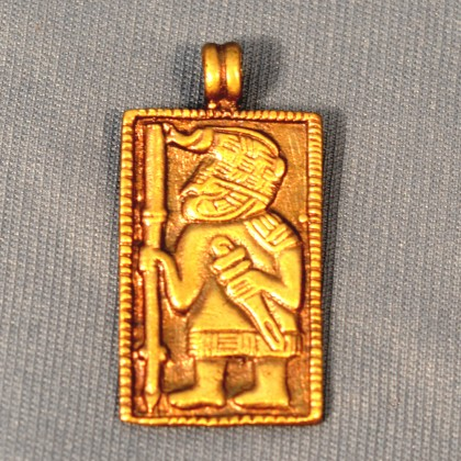 Amulet from Vendel period culture of 6th-7th century Scandinavia