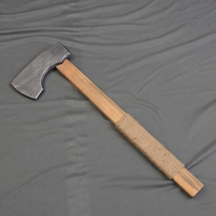Wooden Axe with Jute Wrapped Handle